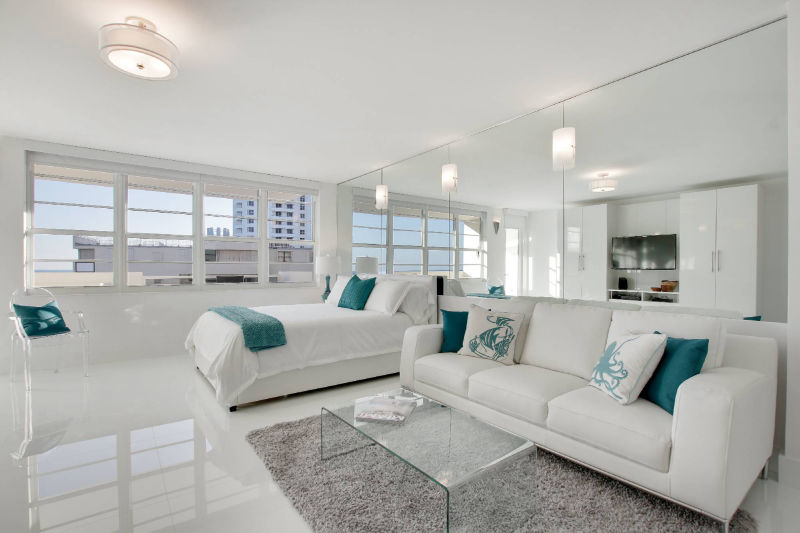 living room - beautiful white design and furniture