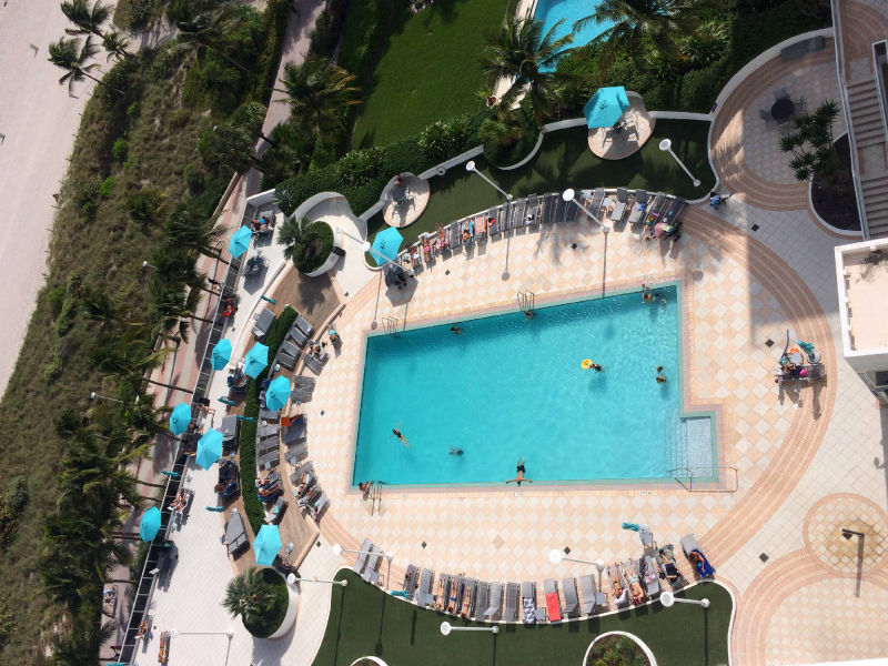 top view of pool