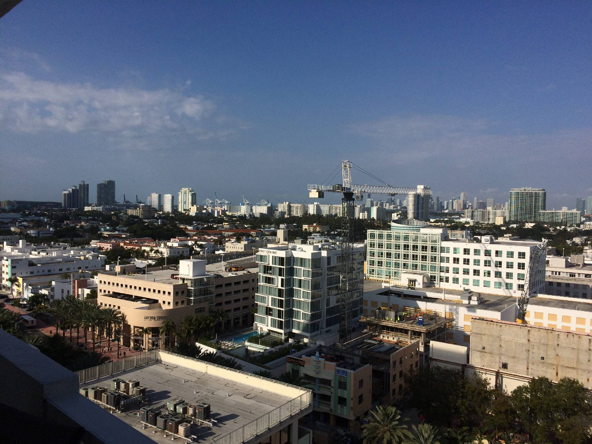 View of Miami Beach from balcony